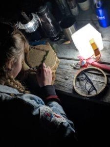 Juliana rug hooking in the dark ground rules 2019